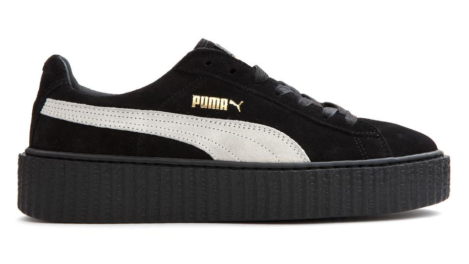 newest 95824 0e1d3 Puma Black White Rare Rihanna Creeper Fenty Sneakers Size US 8 Regular (M,  B)