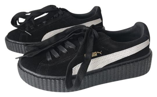 Puma Creepers Rihanna Fenty Rihanna Creepers Fenty Slides Creepers Black White Athletic Image 2