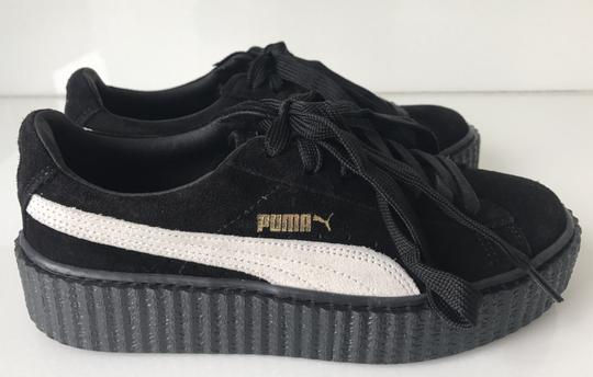 Puma Creepers Rihanna Fenty Rihanna Creepers Fenty Slides Creepers Black White Athletic Image 4