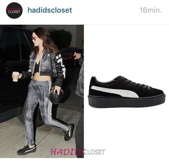 Puma Creepers Rihanna Fenty Rihanna Creepers Fenty Slides Creepers Black White Athletic Image 9