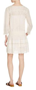 Joie short dress off white Linen Eyelet Embroidered Sweetheart on Tradesy