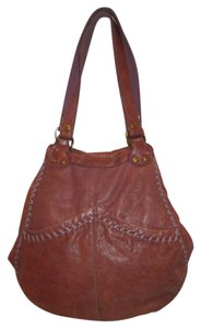 Lucky Brand Leather Distressed Weathered Hobo Bag