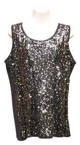 Verve Ami Sequin Plus-size Sleeveless Sparkle Knit Sweater