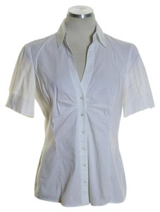 Elie Tahari Button Down Shirt Off-White