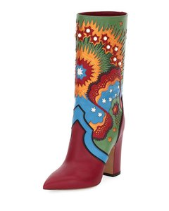 Valentino Red Blue Yellow Green Boots