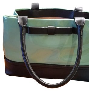 Kate Spade Tote in Teal and Black with a Bow