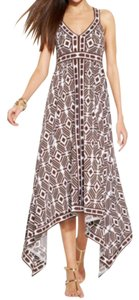 Brown/White Maxi Dress by INC International Concepts