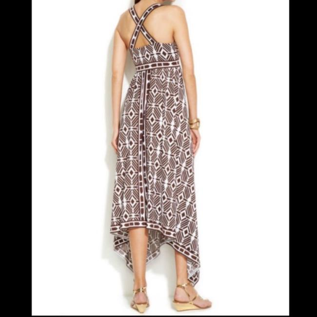 Brown/White Maxi Dress by INC International Concepts Image 3