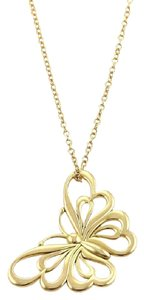 Tiffany & Co. Butterfly 18k Yellow Gold Pendant Necklace