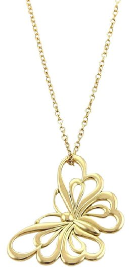 Preload https://img-static.tradesy.com/item/21143988/tiffany-and-co-18036-butterfly-18k-yellow-gold-pendant-necklace-earrings-0-3-540-540.jpg