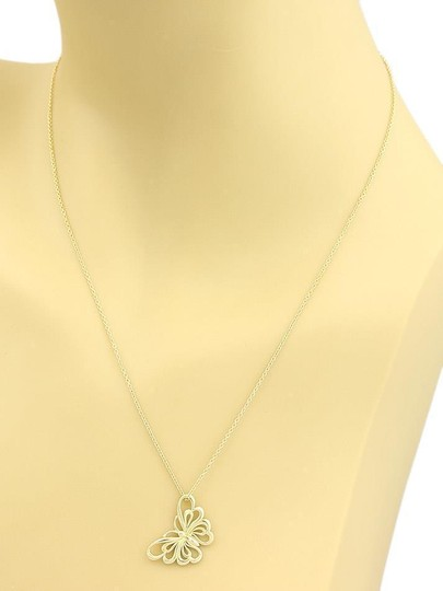 Tiffany & Co. Butterfly 18k Yellow Gold Pendant Necklace Image 1