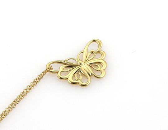 Tiffany & Co. Butterfly 18k Yellow Gold Pendant Necklace Image 2