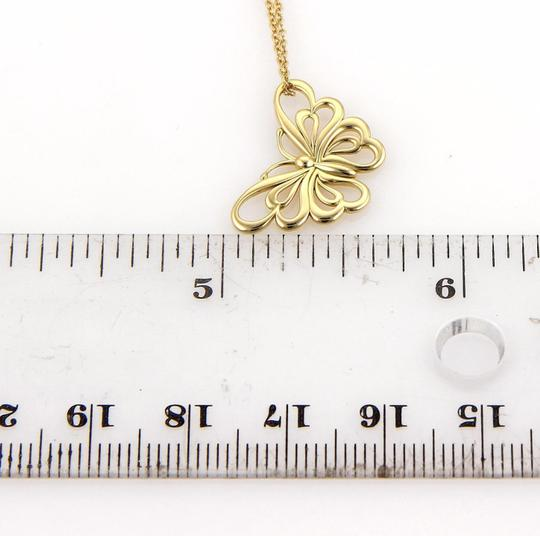 Tiffany & Co. Butterfly 18k Yellow Gold Pendant Necklace Image 3