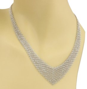 Roberto Coin #20367 Tiffany & Co. Peretti Sterling Mesh Scarf Graduated Necklace