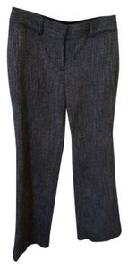 Ann Taylor LOFT Work Trouser Pants Black and white tweed, looks dark gray