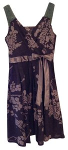 Su Ge short dress Brown Flower Linen on Tradesy