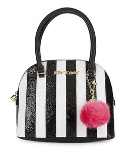 Betsey Johnson Sequin Candy Satchel in Black