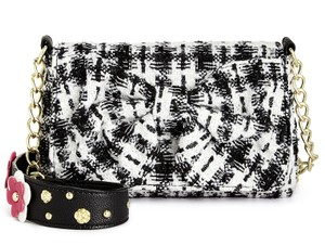 Betsey Johnson Satchel Black Sequin Candy Shoulder Bag