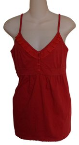 New York & Company Sweetheart Top RED