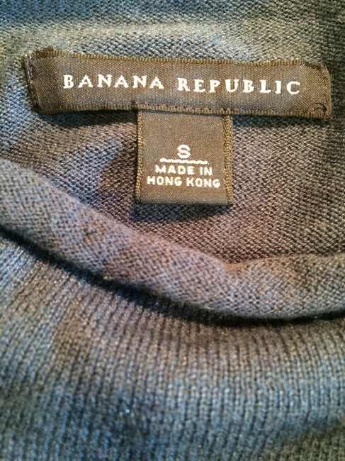 Banana Republic Short Sleeve Cashmere Silk Turtleneck Sweater Image 3