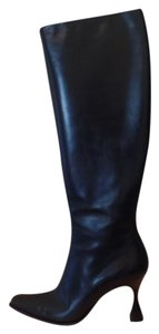 Escada Cool Heel Nautical Equestrian Navy Boots