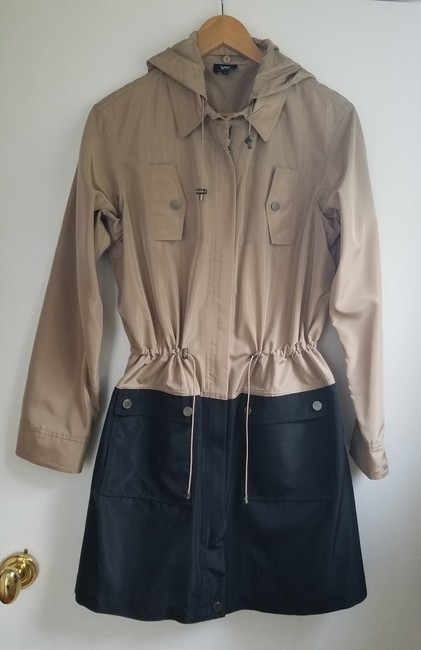 W by Worth Fall Coat Trench Coat brown and black Jacket Image 1