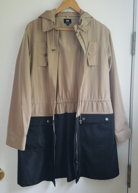 W by Worth Fall Coat Trench Coat brown and black Jacket Image 2
