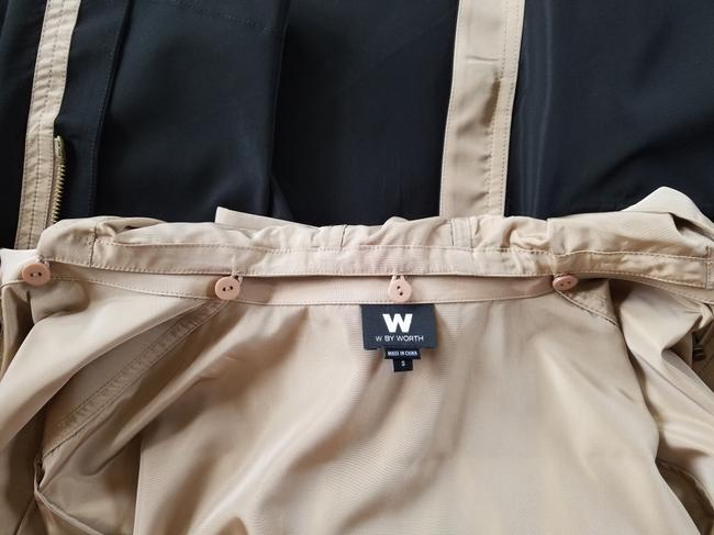 W by Worth Fall Coat Trench Coat brown and black Jacket Image 6