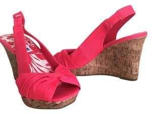 American Eagle Outfitters Ae Sandals Open Toe Pink Wedges