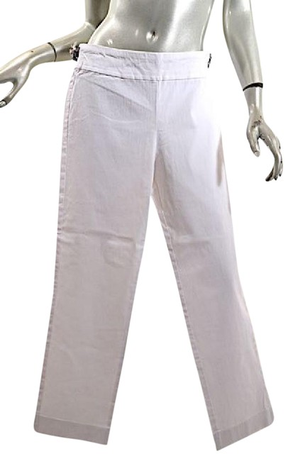 Krazy Larry Stretch Crop Skinny Capri/Cropped Pants White Image 0