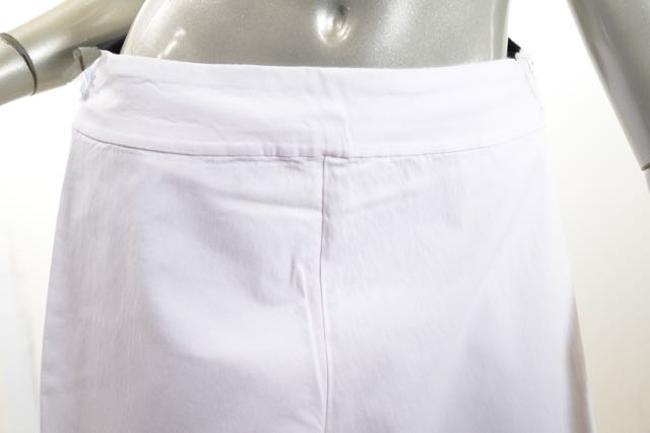 Krazy Larry Stretch Crop Skinny Capri/Cropped Pants White Image 1