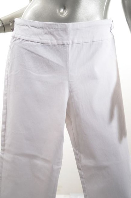 Krazy Larry Stretch Crop Skinny Capri/Cropped Pants White Image 2