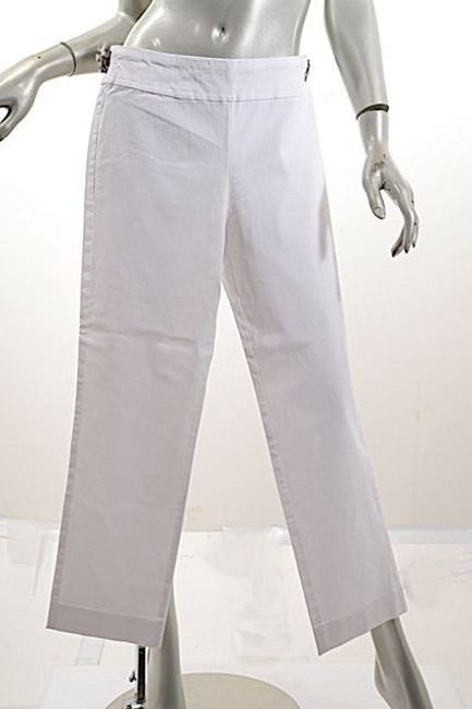 Krazy Larry Stretch Crop Skinny Capri/Cropped Pants White Image 4
