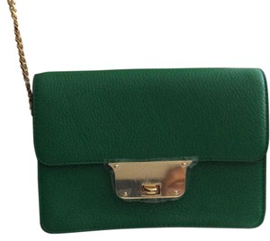 MILLY Leather Mini Gold Hardware Cross Body Bag
