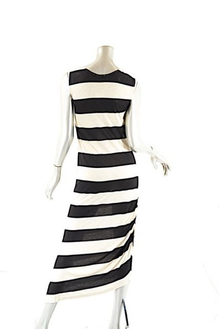 Beige and Navy Maxi Dress by Dim E Cres & Horizontal Stripe Maxi Image 4