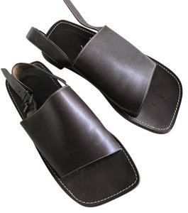 To Boot New York Dark Brown Leather Sandals