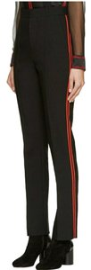 Givenchy Trouser Pants Black/Red Stripes