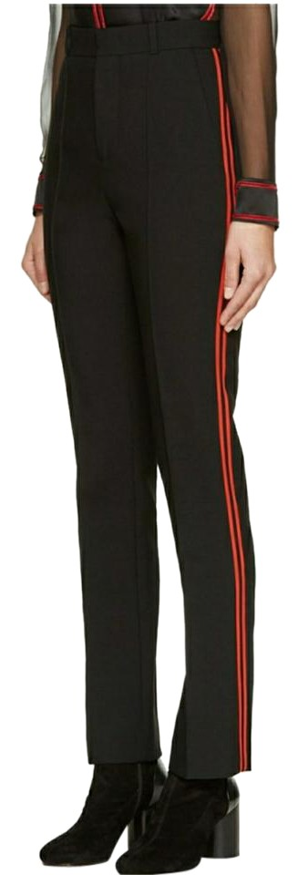 Brand new Givenchy Black/Red Stripes Black/Red Wool Trousers Size 6 (S, 28  DQ36