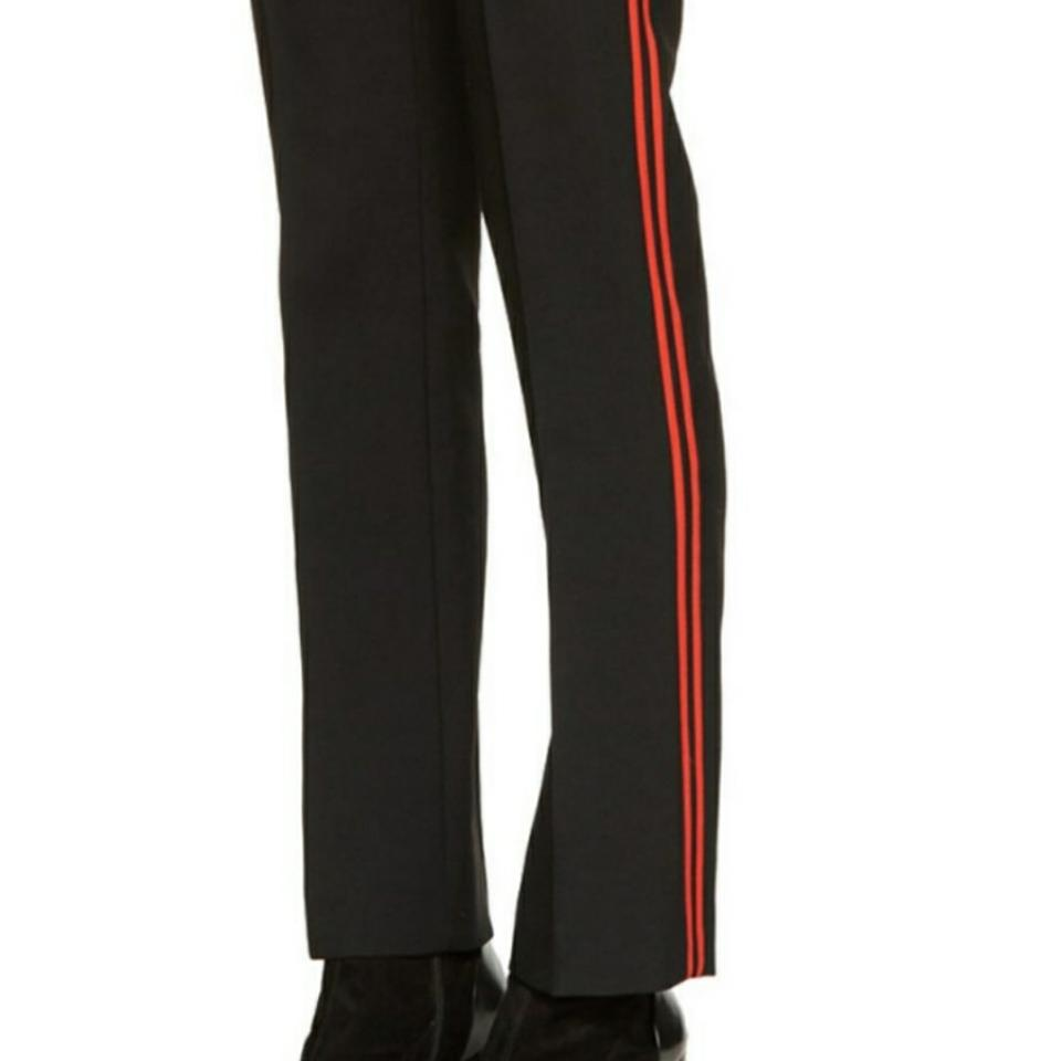 Top Givenchy Black/Red Stripes Black/Red Wool Trousers Size 6 (S, 28  ET73