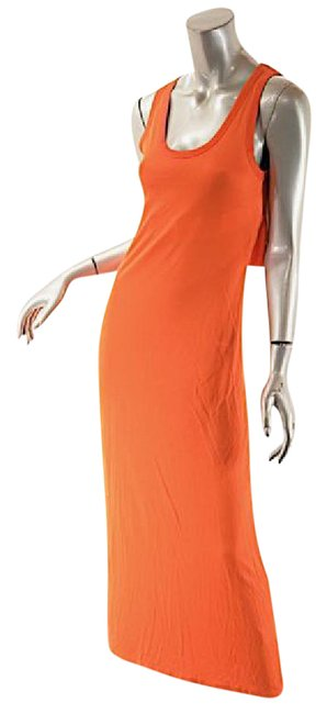 Preload https://img-static.tradesy.com/item/21144487/orange-knit-tank-w-back-cutout-and-elastic-detail-mid-length-casual-maxi-dress-size-os-one-size-0-1-650-650.jpg
