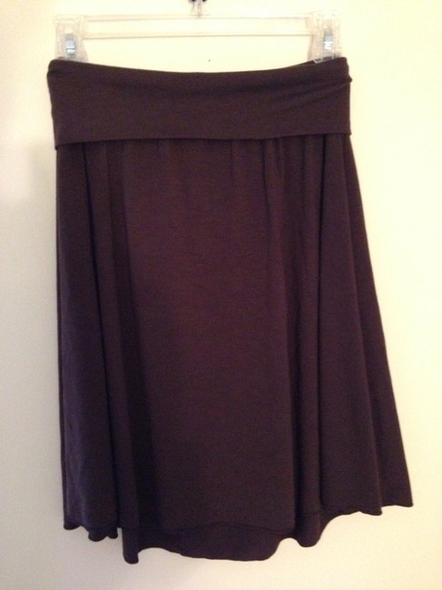 Banana Republic Stretchy Casual Skirt Brown
