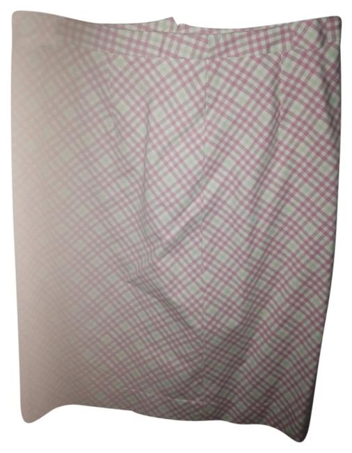 Brooks Brothers Plaid Summer Traditional Casual Work Skirt Pink green
