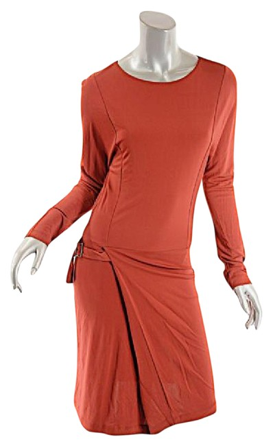 Preload https://img-static.tradesy.com/item/21144615/ruby-red-faux-wrap-stretch-w-long-sleeves-short-casual-dress-size-8-m-0-1-650-650.jpg