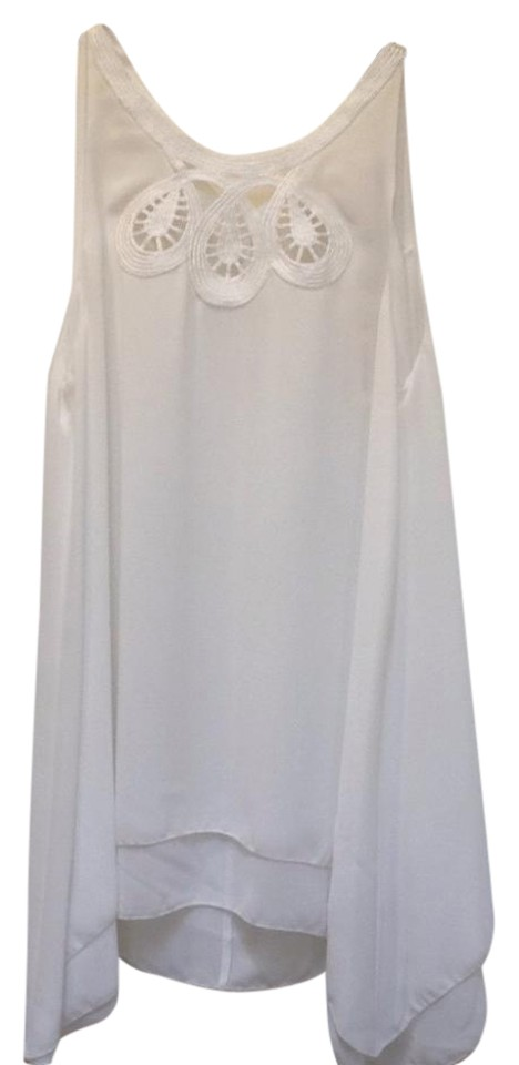 6d966197513 Max Studio Chiffon Embroidered Keyhole Sleeveless Flowy Tunic Image 0 ...