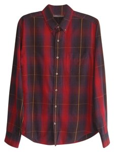 Vince Button Down Shirt red