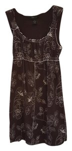 BCBGMAXAZRIA short dress Brown and White flower stitch on Tradesy
