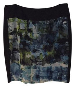 Isda & Co. Skirt black wth a watercolor front panel