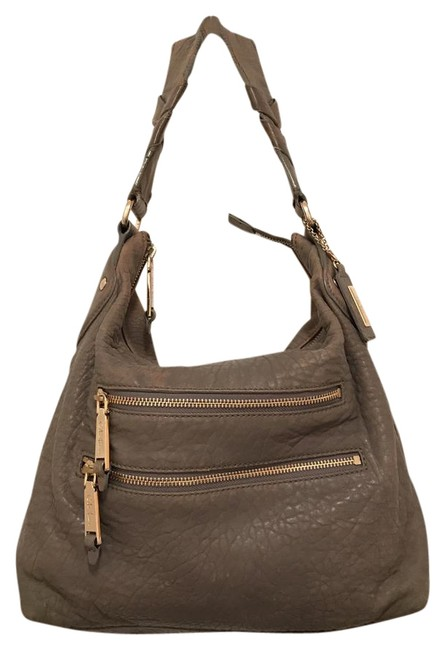 Item - Distressed Gray Leather Hobo Bag