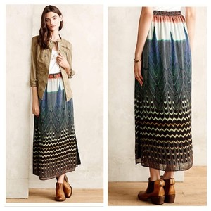 Maeve Geometric Casual Spring Maxi Skirt Multi-Color