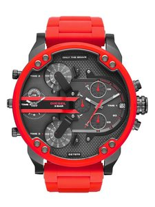 Diesel 100% New Authentic Diesel Mr. Daddy 2.0 Red Metal Mens Watch DZ7370